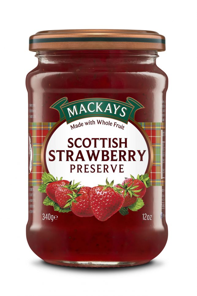 62000100 Strawberry Preserve glas 340g