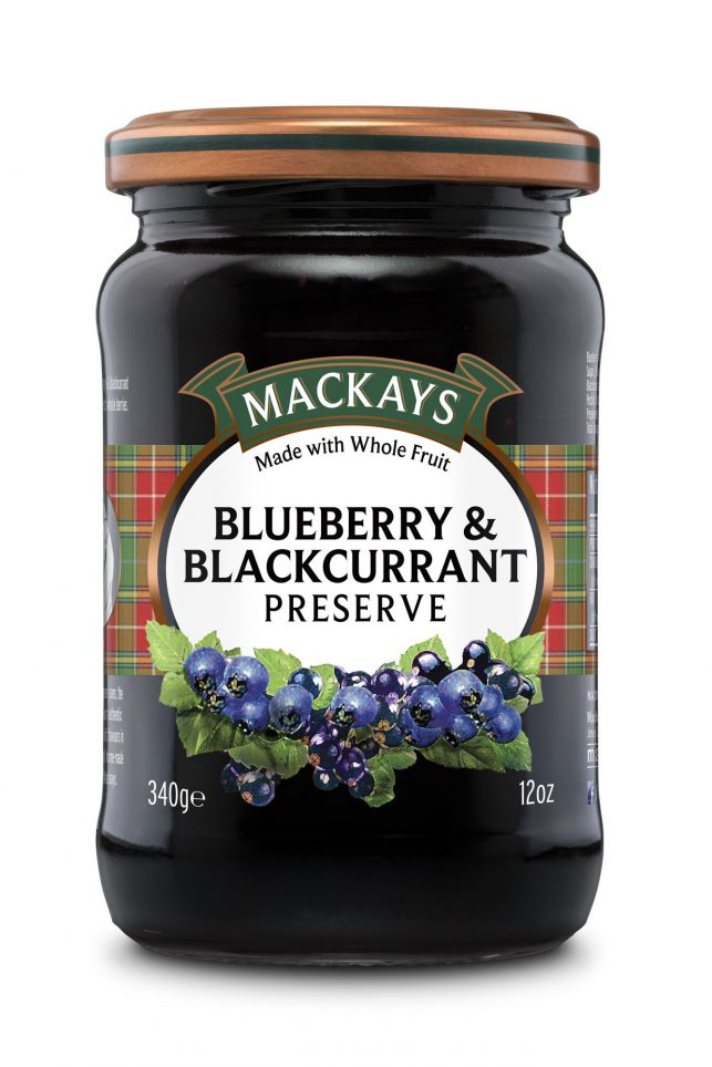 62000251 Blueberry & Blackcurrant Preserve glas 340g