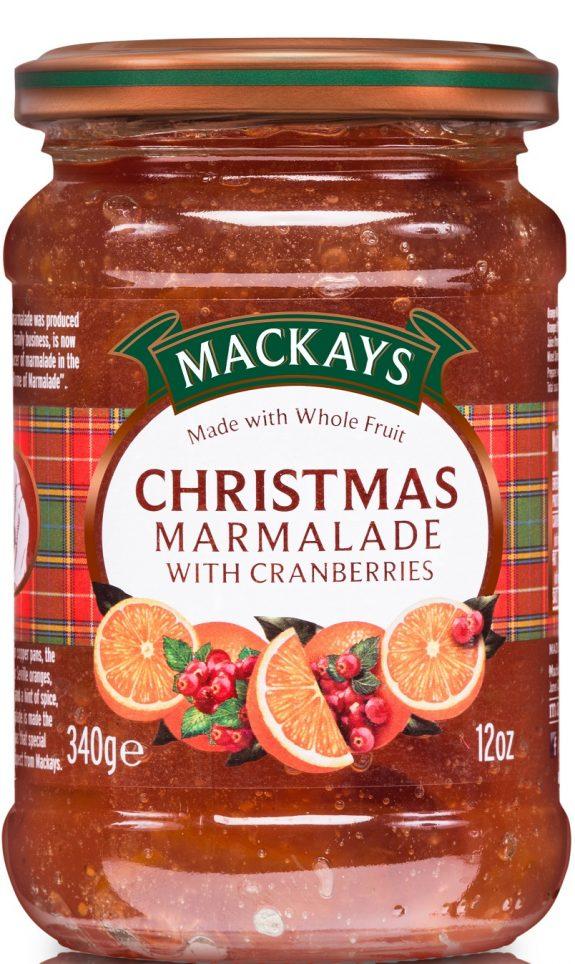 62002944 Xmas Marmalade w.Cranberries glas 340g