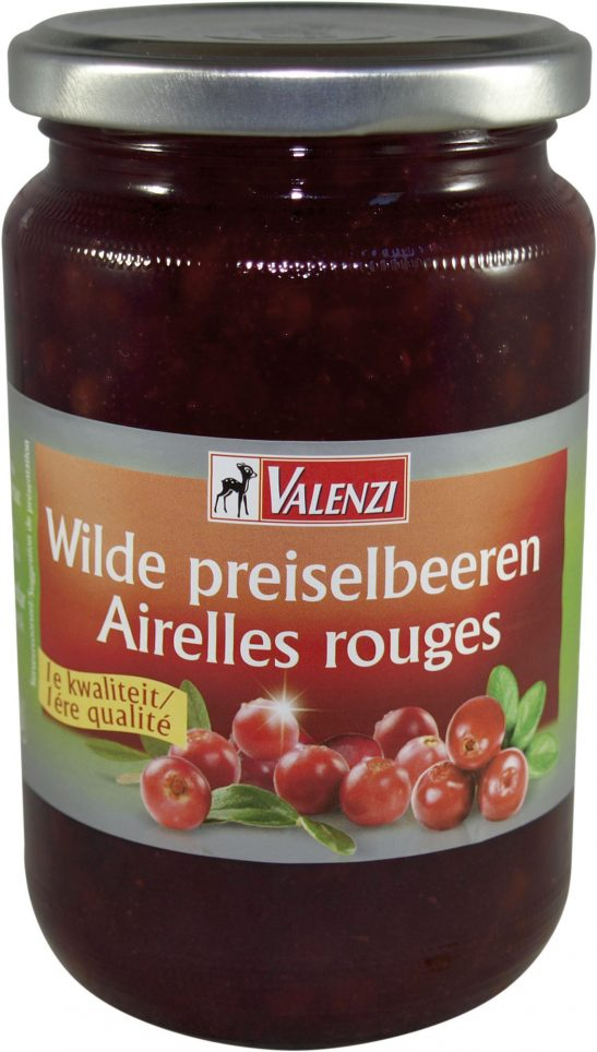 84015002 Wilde Preiselbeeren compote (auslese) glas