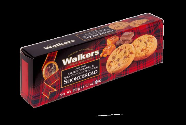 98001564 Salt.Caramel & Milk Choc. Shortbread 150g schuin