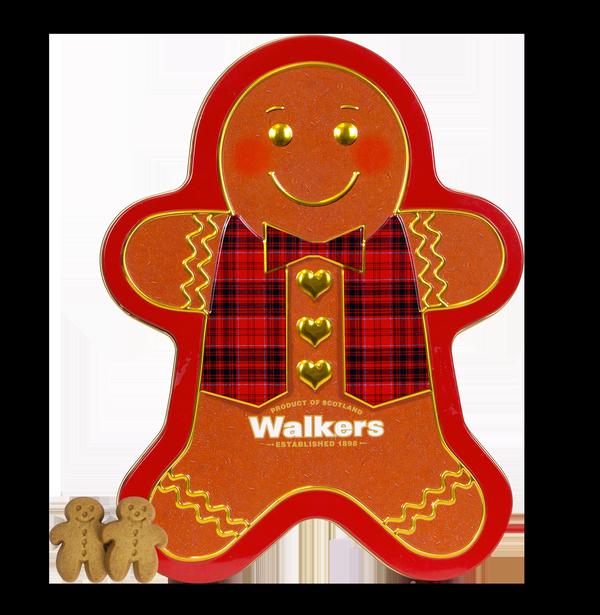 98001651 Gingerbread Man blik shortbread