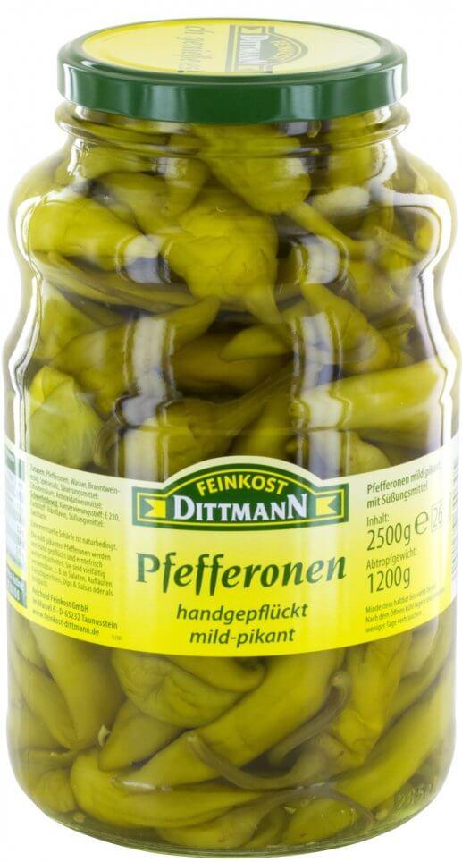40006403 Griekse Pepers groen mild glas