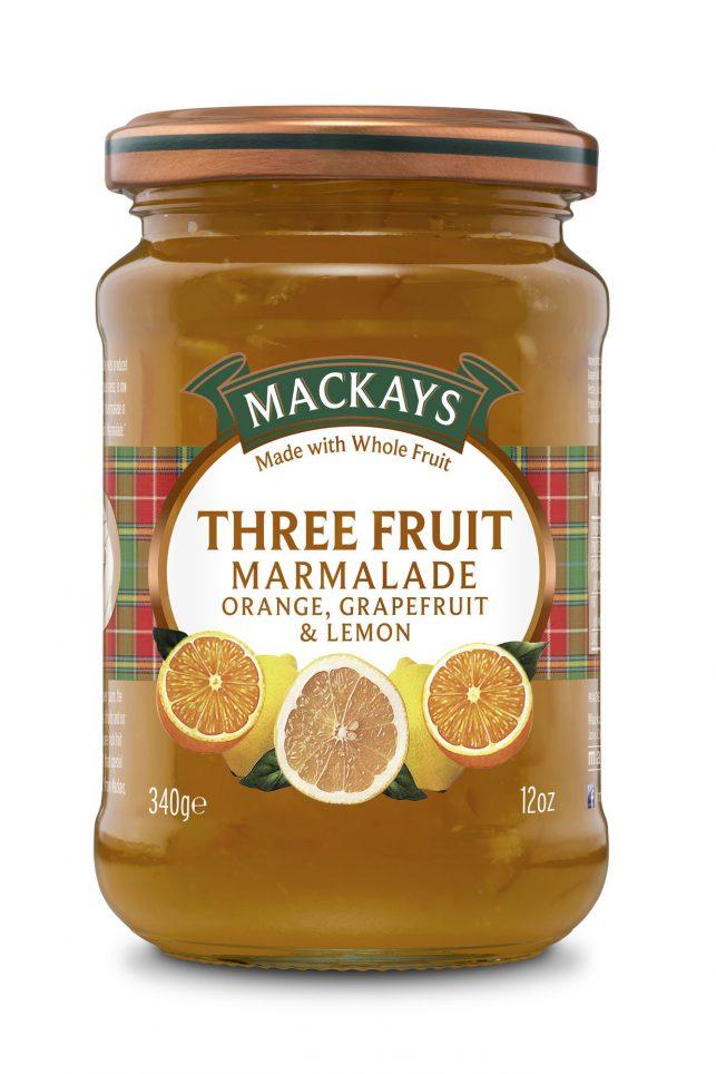 62000093 Three Fruit Marmalade glas 340g