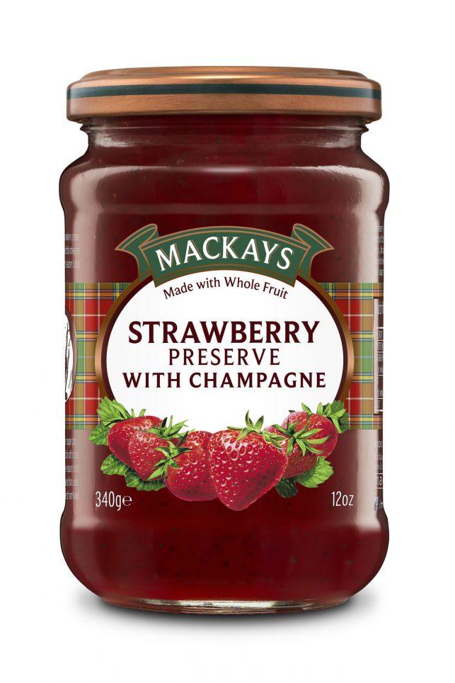 62000101 Strawberry Champagne Preserve glas 340g