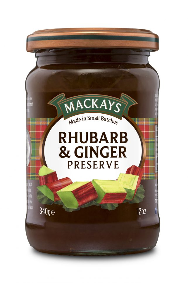 62000104 Rhubarb & Ginger Preserve glas 340g