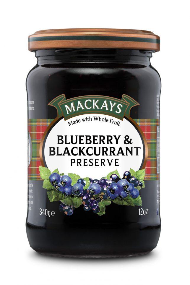 62000251 Blueberry & Blackcurrant Preserve glas 340g